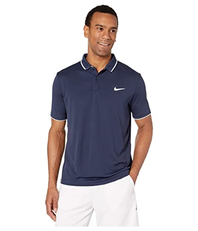 Nike NikeCourt Dry Polo Team (Obsidian/White/White/Obsidian) Men