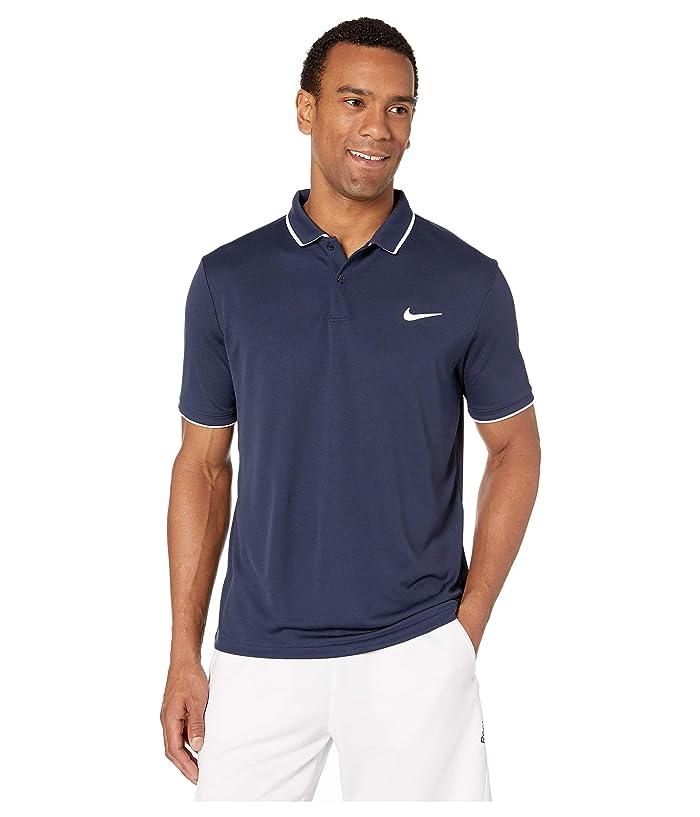 Nike NikeCourt Dry Polo Team (Obsidian/White/White/Obsidian) Men