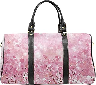 Light Pink Environmental Travel Bag,Japanese Cherry Blossom Sakura Tree with Romantic Influence Asian Nature Theme Decorative for Shopping