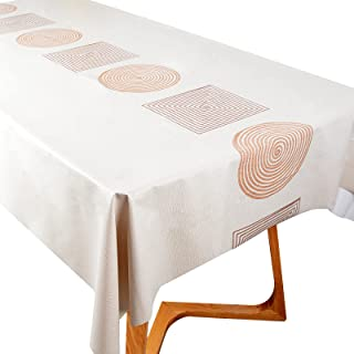 Nappe à Manger Imperméable Réutilisable 140x200cm Antitache Couvre Linge de Table Nappe Cuisine Party Couverture Rectangul...