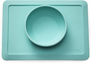 """Mini Silicone Placemat Bowl 10.2""""x7.5""""x1.75"""" - Upgraded Edges - Top Baby/ Toddler Placemat, Fits IKEA Antilop & Most Highchair Trays- BPA Free Kids/ Pets Placemat -Perfect Gift Idea"""