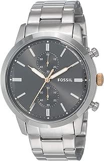 FOSSIL Men's FS5407 Year-Round Chronograph Quartz Silver Band Watch