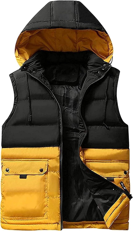 Men's Vest Jacket Winter Waterproof Sleeveless Men Jacket Hooded Casual Vest Men Autumn Thicken Waistcoat