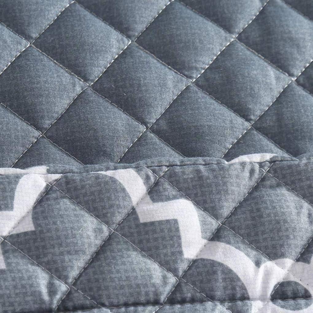 KUANDARM Couvre-Lit Matelassé avec 2 Taies d'oreiller Ensemble De Literie éDredon 240 × 260cm Couette en Coton Polyester, Blue Grey
