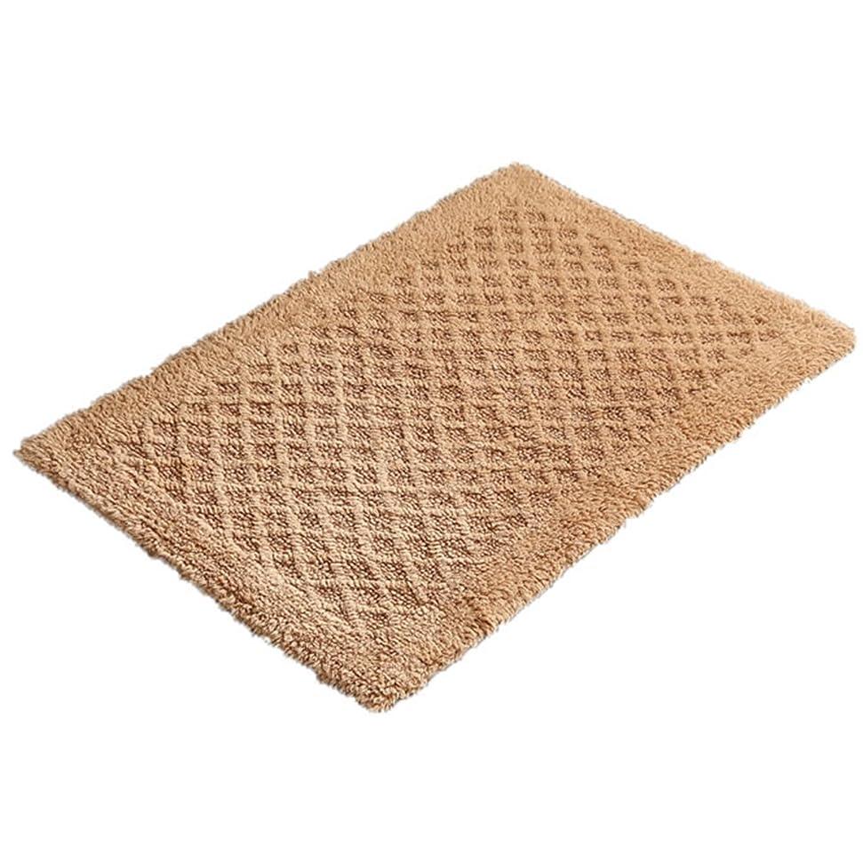 に対応アレルギー性オーバーラン[XINXIKEJI]玄関マット 屋内 北欧 室内 おしゃれ 天然素材 綿 無地 超吸水 滑り止め 泥とし 柔らかい 洗える ドアマット リビング ベッドルーム カーキ 50×150cm