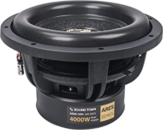 """$169 » Sponsored Ad - Sound Town 12"""" Dual Voice Coil 1000W Car Audio Subwoofer, Dual 4-Ohm, CEA Rated (ARES-12D4)"""