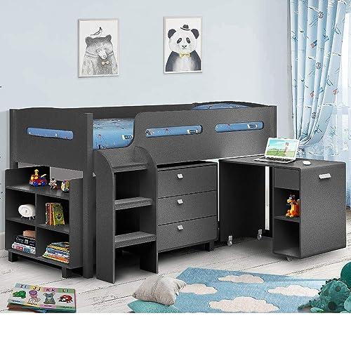 Mid Sleeper Bed with Desk: Amazon.co.uk