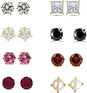 65d82de67f Archi Collection Jewellery Combo of Gold Plated Solitaire Stud Earrings for  Girls and Women
