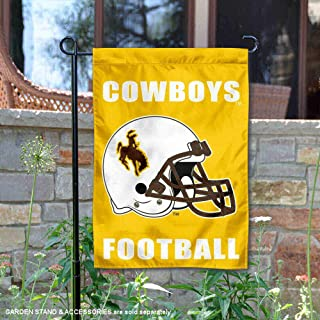 College Flags and Banners Co. Wyoming Cowboys Football Helmet Garden Flag