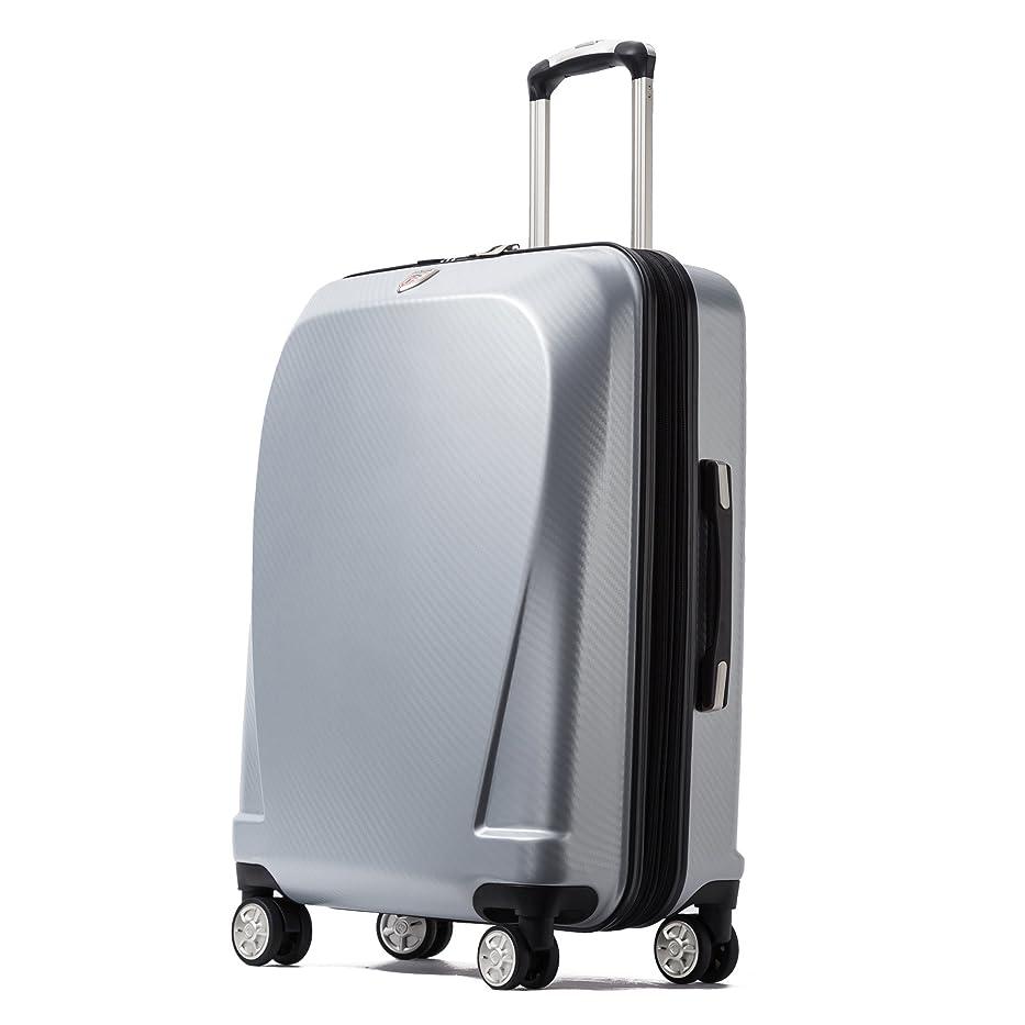 病学んだせっかちクロース(Kroeus)スーツケース キャリーケース 容量拡張機能 TSAロック搭載 ファスナータイプ エンボス加工 軽量 ダブルキャスター S型機内持ち込み可 トランクケース 出張 日本語取扱説明書 1年間保証