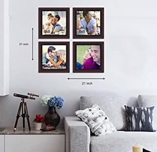 Painting Mantra Happiness is Homemade Glass Wall Photo Frame Brown