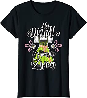 "Mei Dirndl is z""kloa für Zwoa Tracht Damen Mei Dirndl is z kloa für Zwoa Schwangere lustige Sprüche Top T-Shirt"