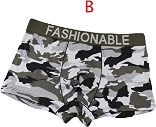 Greatfun Underwear Men's Camouflage Soft Briefs Underpants Knickers Shorts Sexy Underwear Cotton with tag Boxer Brief Style Loose Shorts Trousers Casual Pants Comfy Waistband