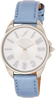 Just Cavalli Womens Quartz Watch, Analog Display and Leather Strap JC1L008L0025