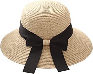 Flying Rabbit Women's Sun Hats Foldable Straw Hat with Sun Protection Wide Brim
