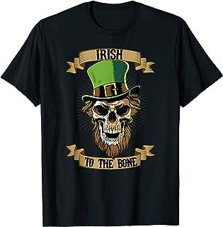 St Patricks Day T-Shirt Leprechaun Skull Irish to the Bone T-Shirt