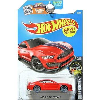 Blue Mattel SG/_B01DE8NU4W/_US Hot Wheels 2016 Night Burnerz Ford Shelby GT350R 87//250