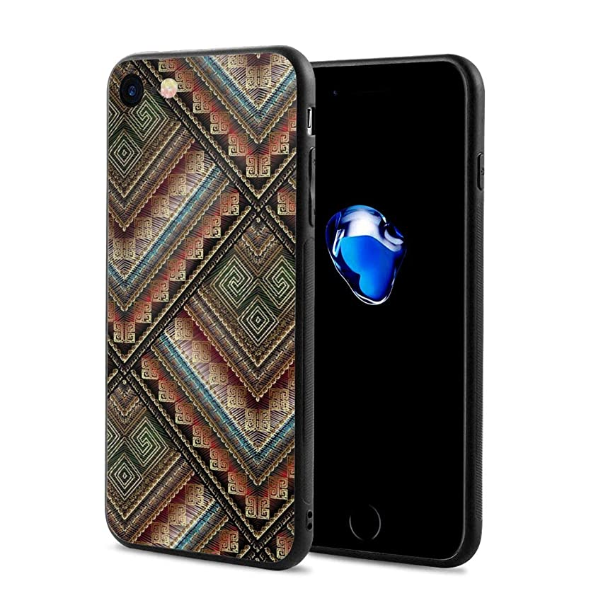 Ttibal Embroidey Striped Decoration iPhone 8/7 Slim Case Dust-Proof Shockproof Drop-Proof Scratch-Resistant Phone Case