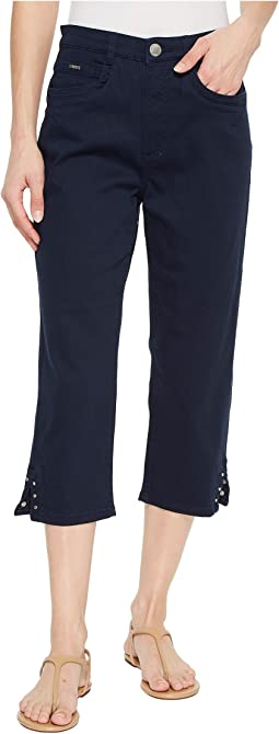 Sunset Hues Suzanne Capris in Navy