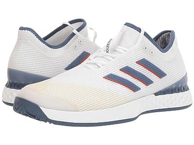 adidas adizero Ubersonic 3 (Footwear White/Tech Ink/LGH Solid Grey) Men