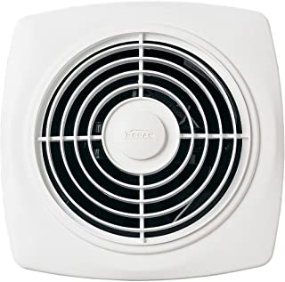 Broan 509 Through-Wall Fan, 180 CFM 6.5 Sones, White Square Plastic Grille