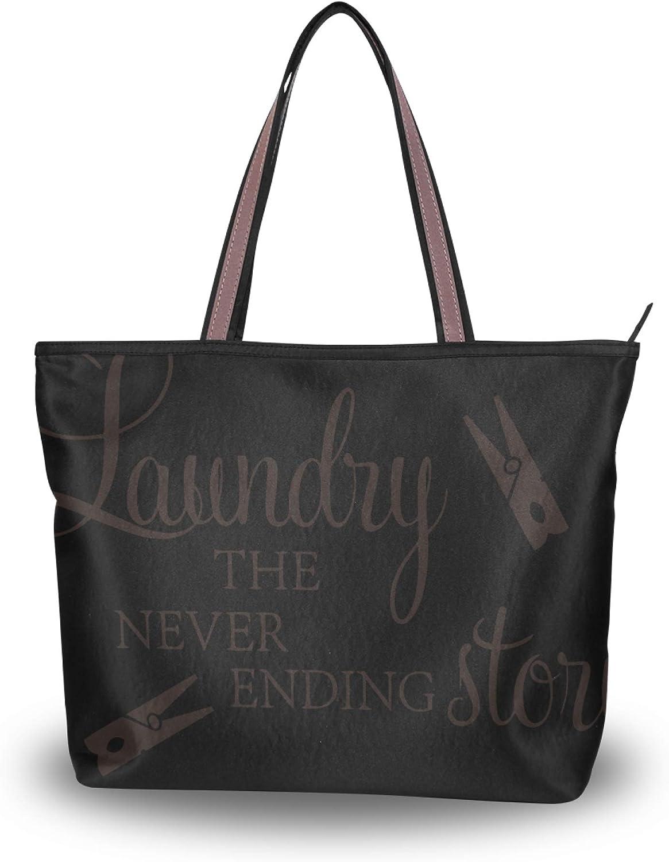 Tote Bag Handbag for Fashionable Women Handle LaundryShoulder Max 44% OFF Top Purse