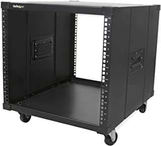 "StarTech.com 9U Open Frame Rack with Wheels - 4 Post 23"" Deep Portable Open Frame Cabinet for 19"" Network, Data & Server Equipment - 220 lbs capacity (RK960CP)"