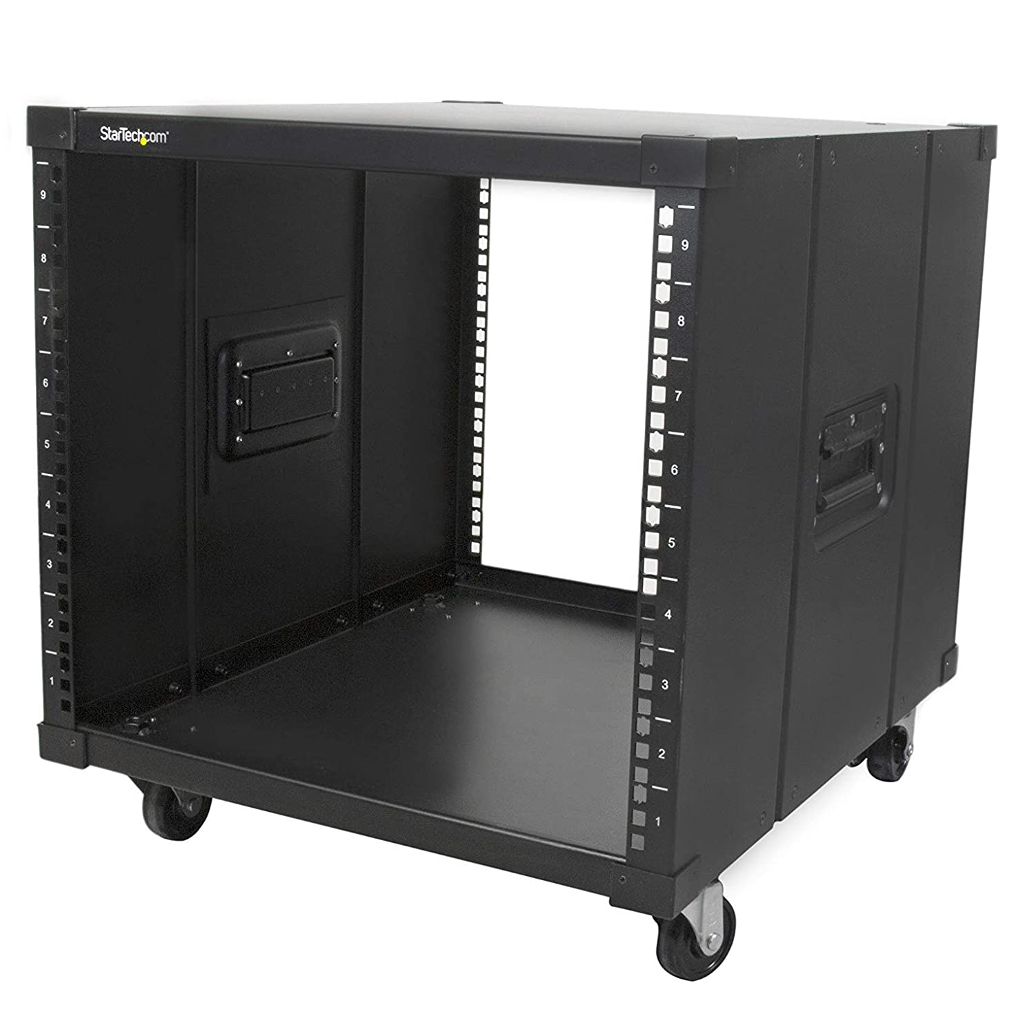 StarTech.com Portable Server Rack with Handles - Rolling Cabinet - 9U