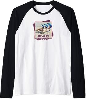 Classic 90210 Beach Bums: Brenda Donna and Kelly  Raglan Baseball Tee