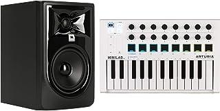 Arturia MiniLab MkII 25 Slim-key Controller + JBL 305P MkII 5-inch Powered Studio Monitor Value Bundle