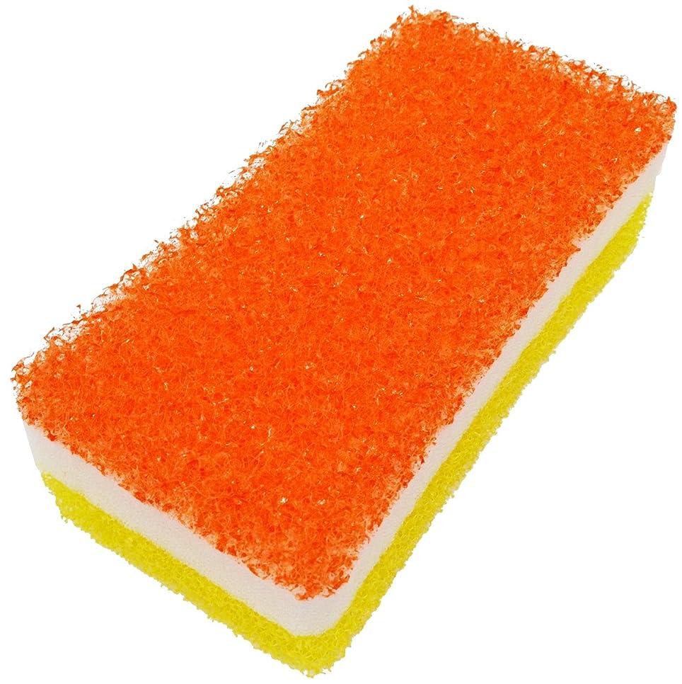 別々に物足りない冗長オーエ カビ?湯あか取りスポンジ オレンジ 約14×7×4.5cm 日本製