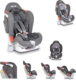 Silla de auto Nano para niños Mejor grupo 0+/1/2 (0-25 kg) ajustable, portabebidas, color:gris oscuro