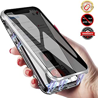 Magnetic Case for iPhone 11 Pro Max, Antipeep Magnetic Adsorption 11 Pro Max Case Double Sided Tempered Glass Metal Frame With Privacy Screen, Anti-spy Coque for Apple iPhone 11 Pro Max 6.5