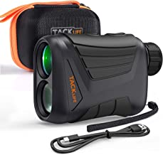 Laser Range Finder 900 Yard, RangeFinder 7X with Pin/Range/Speed/Scanning Model, USB Charging Cable, Wrist Strap, Carrying Case, 1/4'' Mounting Thread for Golf, Hunting, Hiking, Outdoor Using - MLR01