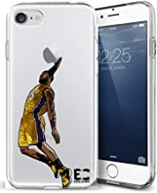 iPhone6/6S iPhone 7/iPhone 8 Case Epic Cases Ultra Slim Crystal Clear Basketball Series Soft Transparent TPU Case Cover Apple (iPhone 6/6s) (iPhone 7) (iPhone 8) - King James LBJ Lakers (iPhone 6/7/8)
