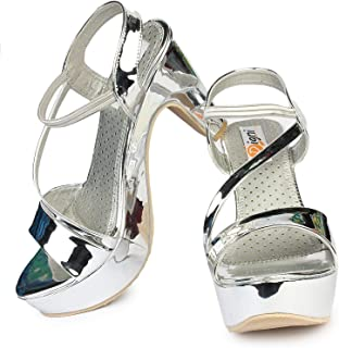 LookShine Women's Hi-Chunk High Heel Pump Sandals