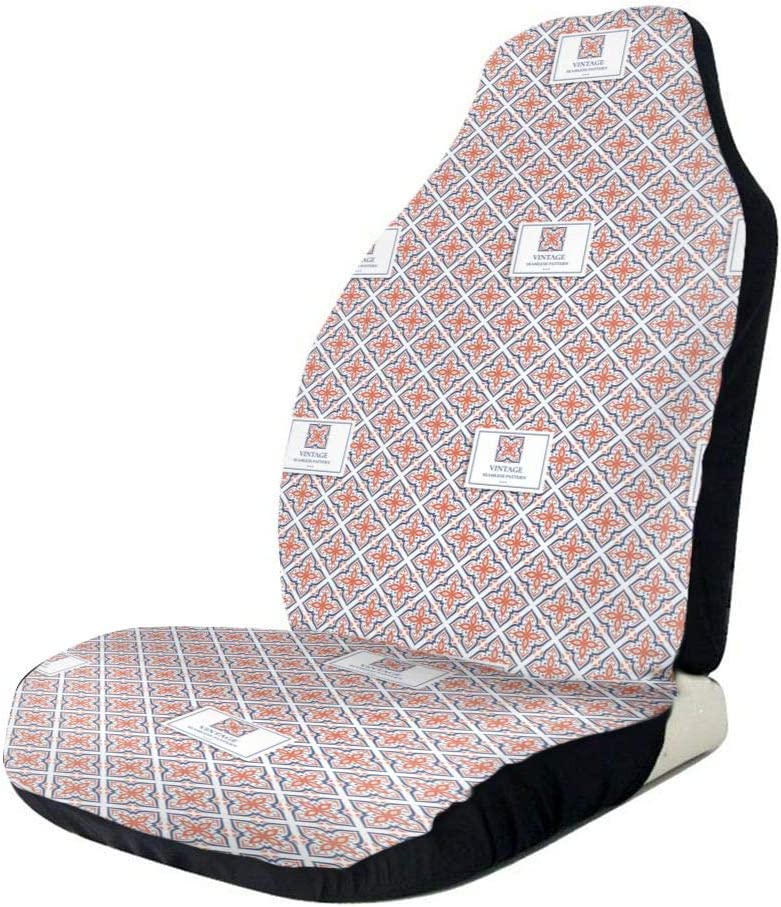 QIUYELONG Blue and Orange Print Universal Seat online shopping C Cheap mail order shopping Front Seats Car