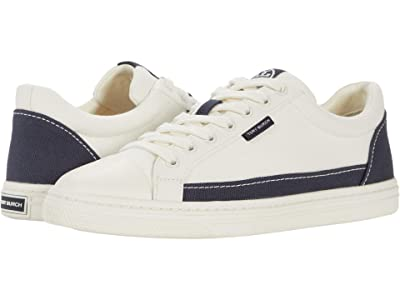 Tory Burch Classic Court (Ivory Canvas/Perfect Navy) Women