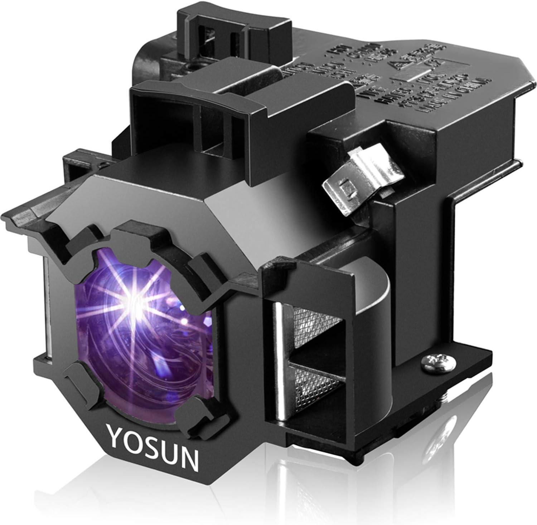 YOSUN Lámpara de proyector para Epson ELPLP42 V13H010L42 EB-410WE EMP-280 EMP-400WE EMP-410We EMP-822 EMP-822H EMP-83 EMP-83C EMP-83H EMP-83HE EMP-X56 EMP-x68 Lámpara de proyector para