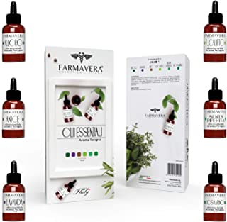 Farmavera Set Oli Essenziali Puri per Diffusori - Essenze per Aromaterapia, 6 x 15ml - Made in Italy