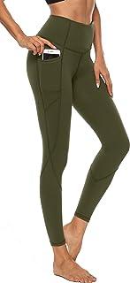 Persit Damen Sporthose Blickdicht Sport Leggings Yogahose mit Taschen