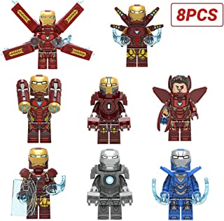 7 weapons Mini Super Heroes Iron Man Action Figures Avengers Figures for boy Girl