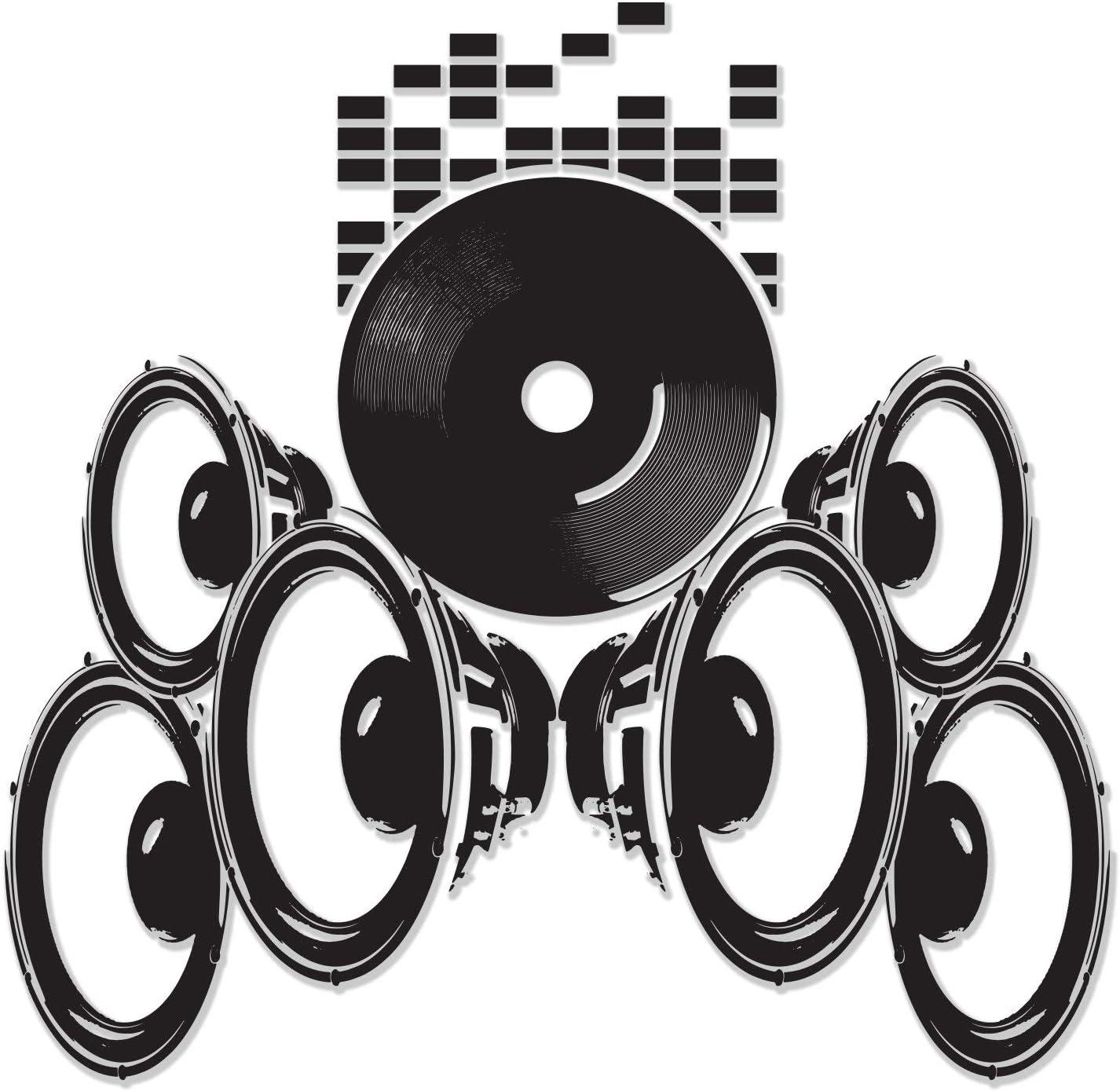 Music Speakers Wall Vinyl Sticker Oakland Mall Removab Art Radio - Max 56% OFF Waterproof