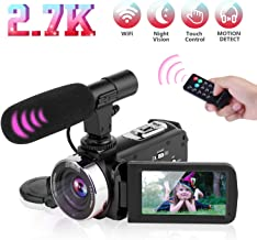Video Camera Camcorder Digital Vlogging Camera Video Recorder for YouTube with Microphone..