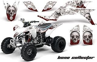 Yamaha YFZ 450 2004-2013 ATV All Terrain Vehicle AMR Racing Graphic Kit Decal BONE COLLECTOR WHITE