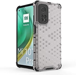 شاومى مى 10 تى / مى 10 تى برو (Xiaomi Mi10T / Mi 10T Pro 5G) جراب خلفي شفاف مقاوم للصدمات خلية النحل - ابيض