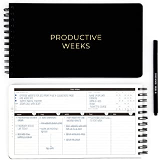 PRODUCTIVE WEEKS - Your Home / Office Productivity Planner - Smash Daily & Weekly Productivity, Time Management, Habit Goa...