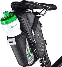 ROCKBROS Zadeltas, fietstas, fietszadeltas met flessenhouder, waterdicht, krasbestendig, reflecterend, zwart, zonder water...