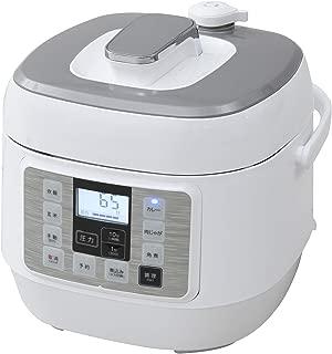 [山善] 電気圧力鍋 マイコン式 2.0L 圧力5段切替 ワンタッチ 簡単レシピ付き ホワイト YPCA-M250(W) [メーカー保証1年]