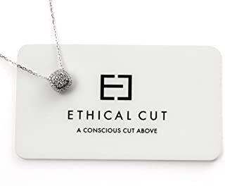 Conflict Free, Authentic Lab Diamond Cushion Pavé Necklace. Clustered Etched Design for Maximum Shine.